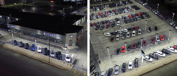 LED Automotive Dealership Lighting Pole Lights