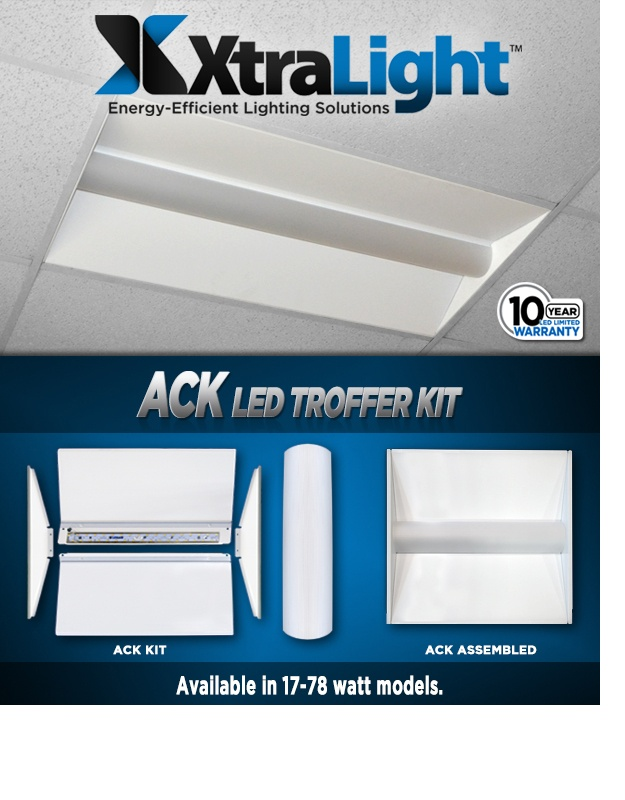 ACK LED Retrofit Kit High Lumens. High Efficacy. Huge Savings.