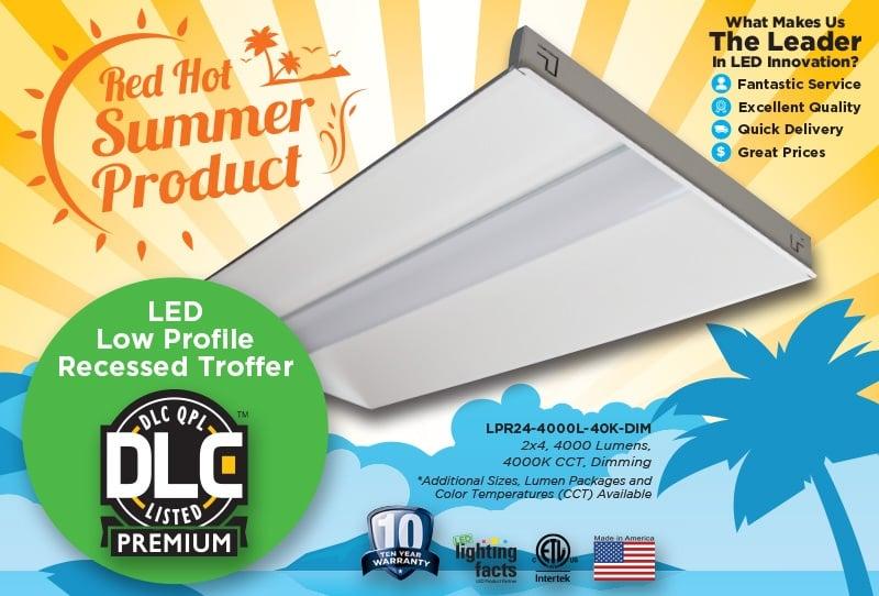 New LED Troffer - Now DLC Premium & DLC Standard Listed!